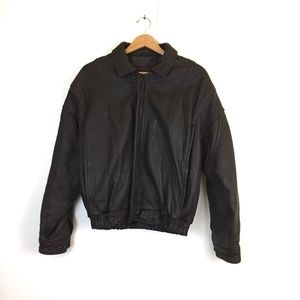 Robert Comstock endurance leather bomber jacket 40